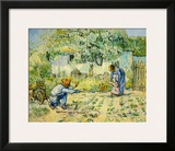 First Steps Framed Giclee Print by Vincent van Gogh