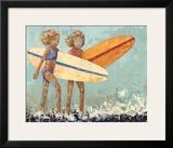Bikini Surf Poster by Rebecca Kinkead