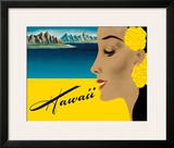 Ocean Liner to Hawaii - Luggage Decal, c.1940s Framed Giclee Print by Frank MacIntosh