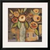 Golden Floral I Prints by Linda Davey