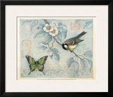 Bluebird and Butterfly Prints by Susan Winget