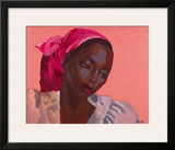 Lady in a Pink Headtie, 1995 Framed Giclee Print by Boscoe Holder