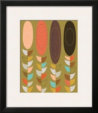 Petal Pods II Framed Giclee Print by Jenn Ski