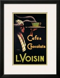 L. Voisin Cafes and Chocolats, 1935 Print by Noel Saunier