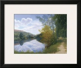 Path Along the River Framed Giclee Print by  Arzt