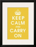 Keep Calm (mustard) Prints