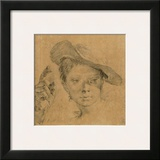 Head of a Young Girl with a Hat Prints by Giovanni Battista Piazzetta