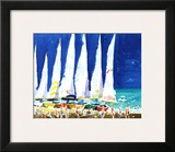 Sailboats on the Beach Posters by J. Presley