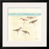 Sand Pipers Square II Poster by Avery Tillmon