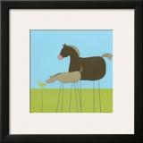 Stick-Leg Horse II Print by Erica J. Vess