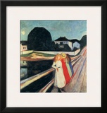 Four Girls on a Bridge Art by Edvard Munch