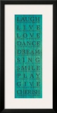 Live Your Life III Framed Giclee Print