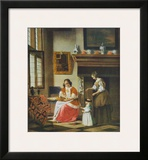 Interior Scene Prints by Pieter Hooch