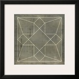 Geometric Blueprint IX Print