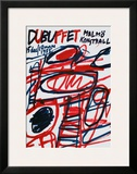 Malmo Kunsthall (sm) Print by Jean Dubuffet