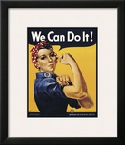 We Can Do It! Framed Giclee Print by J. Howard Miller