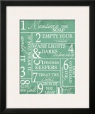 Laundry Rules Print by Taylor Greene