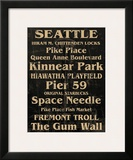 Seattle Posters by Carole Stevens