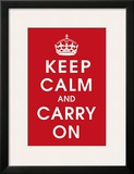 Keep Calm (Red) Prints