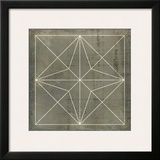 Geometric Blueprint I Prints