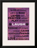 Live with Intention Posters by Marilu Windvand