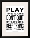 Play the Game II Print by Andrea James
