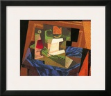 Fruit Bowl on a Tablecloth Prints by Juan Gris
