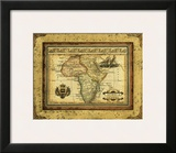 Crackled Map of Africa Poster by Deborah Bookman