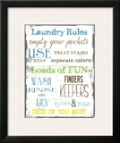 Laundry Rules Poster by Taylor Greene