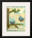 Birds Blue 2 Print by Diane Stimson