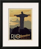 Rio de Janeiro, Brazil Posters by  Anderson Design Group