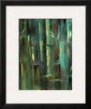 Turquoise Bamboo II Prints by Suzanne Wilkins