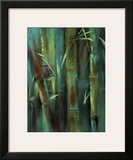 Turquoise Bamboo I Poster by Suzanne Wilkins