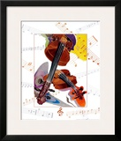Violon Art by A.. Cromwell