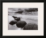 Boulders on the Beach Art by L. Dixon