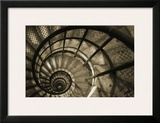 Spiral Staircase in Arc de Triomphe Posters by Christian Peacock
