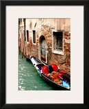 Gondola by a Brick Wall, Venice Prints by Igor Maloratsky