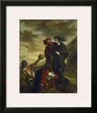 Hamlet and Horatio in the Graveyard, 1839 Framed Giclee Print by Eugene Delacroix