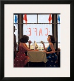 Café Days Prints by Jack Vettriano