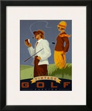 Vintage Golf, Passion Poster by Si Huynh