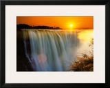 Victoria Falls - Zimbabwe Poster by Roger De La Harpe