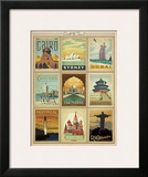 World Travel Multi Print II Posters by  Anderson Design Group