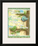 Birds Blue 1 Prints by Diane Stimson