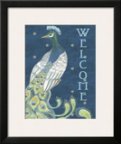Peacock Welcome Prints by Marilu Windvand