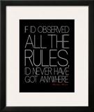 All The Rules Poster by Jr., Enrique Rodriquez