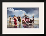 Dancing on the Beach Print by Ronald West