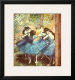 Dancers in Blue, c.1895 Art by Edgar Degas