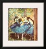 Dancers in Blue, c.1895 Art by Edgar Degas