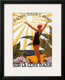 Sur la Cote d'azur Posters by Roger Broders