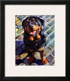 Handsome Rottie Prints by Robert Mcclintock